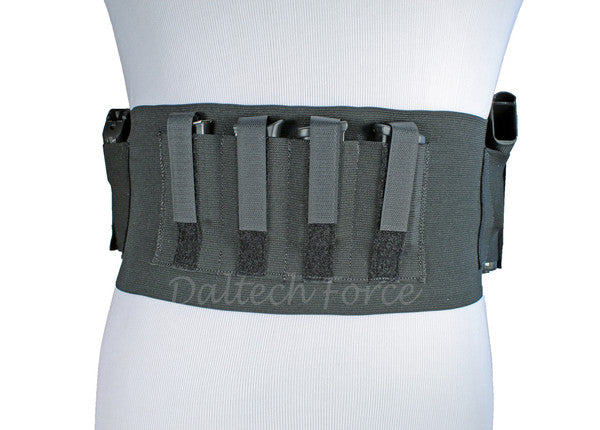 "6"" Wide Two Gun Tactical Belly Band Holster"