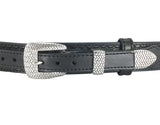 Basket Weave Ranger Bull Hide Leather Gun Belt