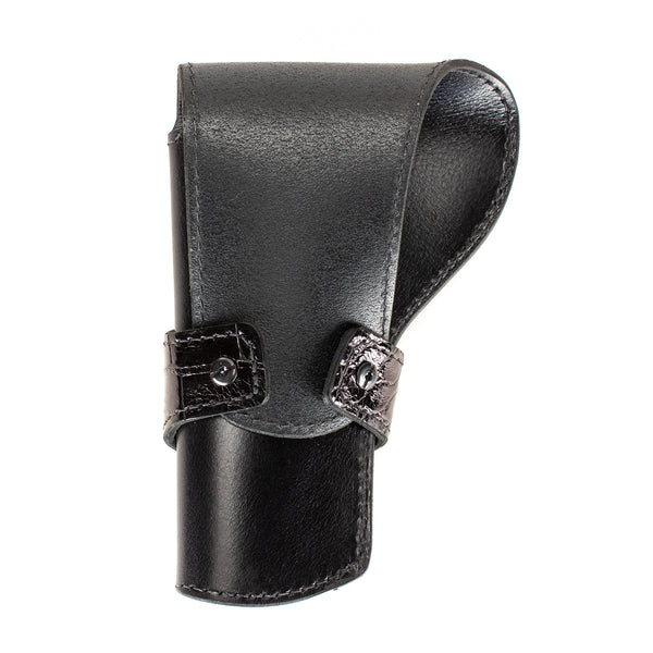 Black Alligator Banded Western Revolver Holster