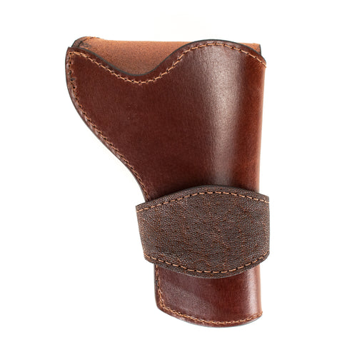 Brown Elephant Banded Western Revolver Holster