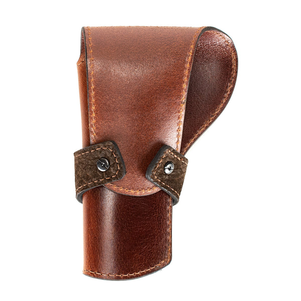 Brown Hippo Banded Western Revolver Holster