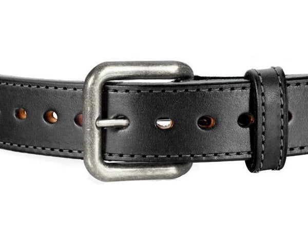 DUAL LAYER STITCHED HORSE HIDE LEATHER GUN BELT