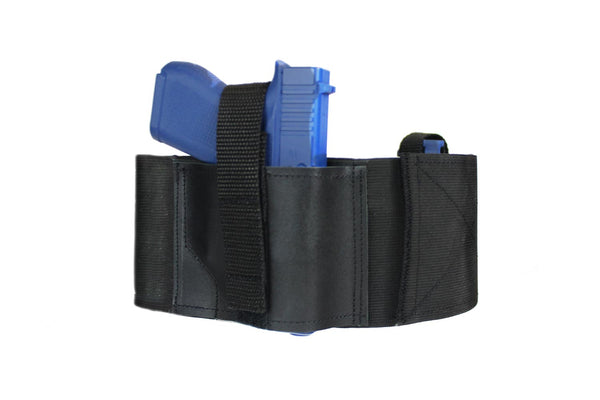 4 Inch Wide One Gun LEATHER Belly Band Holster