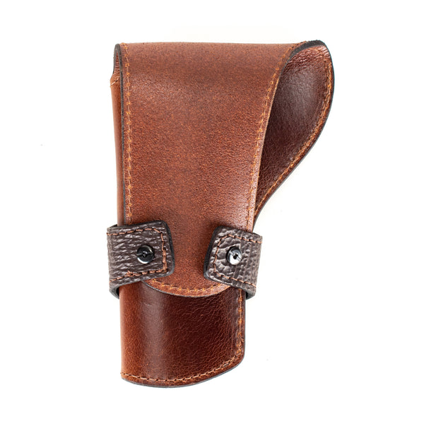 Brown Shark Banded Western Revolver Holster