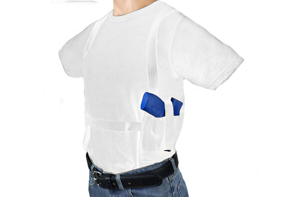 ONE GUN TWO MAG SHOULDER HOLSTER CONCEALMENT T-SHIRT