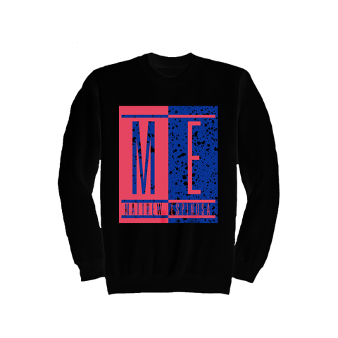 ME Color Block - Black Crewneck