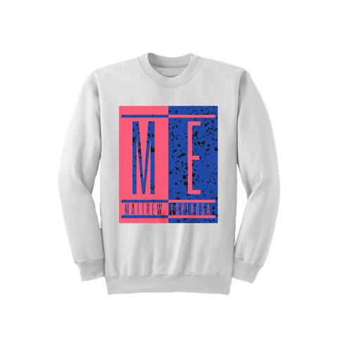 ME Color Block - White Crewneck