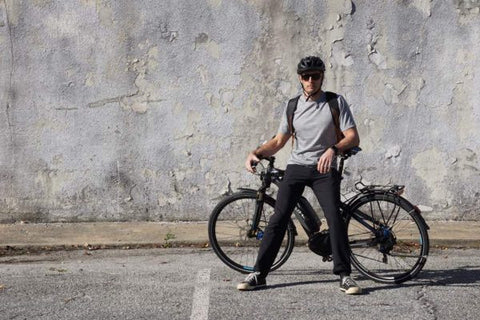 thunderbolt sportswear active commuter pants review - user on bike
