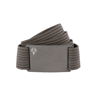 Thunderbolt Sportswear Thunderbelt, Made in USA by Grip 6, grey buckle/grey strap rolled