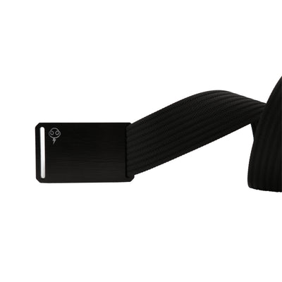 Thunderbolt Sportswear Thunderbelt, Made in USA by Grip 6, black buckle/black strap unrolled