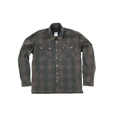 WILD Legendary Forest Ape Waxed Shacket- Autumn plaid