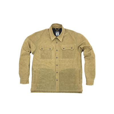 WILD Legendary Forest Ape Waxed Shacket- Oxford Tan
