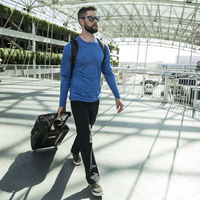 Thunderbolt Sportswear Original Jeans - Mark II Blacktop with Schoeller® Dryskin and Nanosphere® with 100% merino LS tee and roller bag