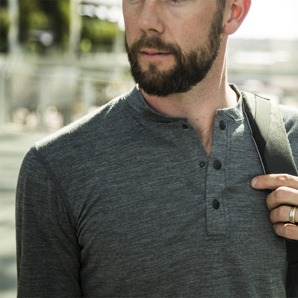 Baseline Modal Marly Henley - Long Sleeve