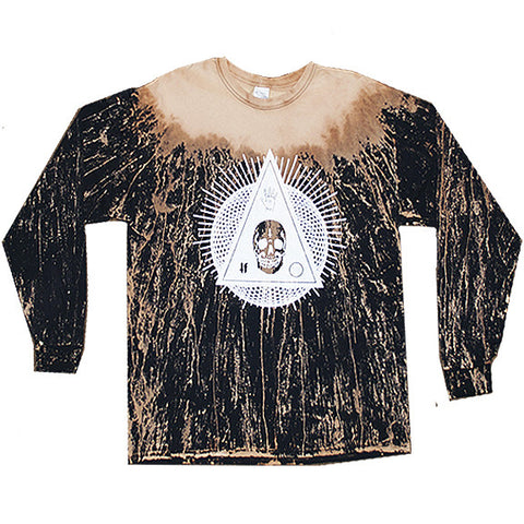 BLEACHED GEOMETRY LONG SLEEVE TEE