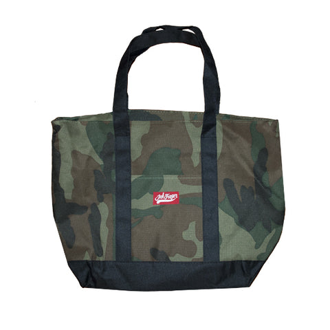 Camo Zipper Tote Bag