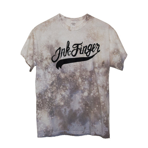 Bleached/Dyed Baseball Logo Tee