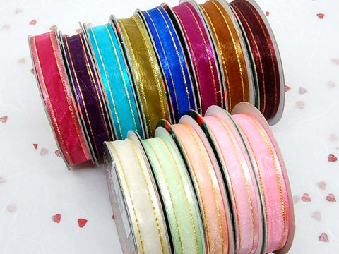 12mm satin edge organza ribbons