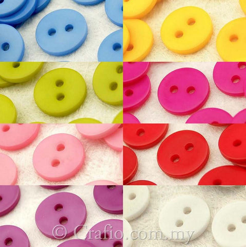 11 mm 2-eye Doll Buttons