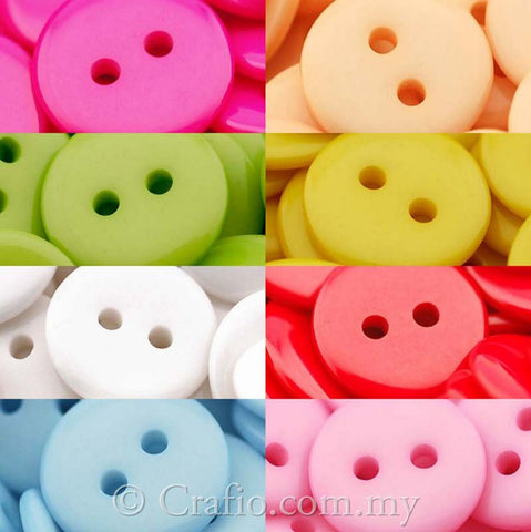 12 mm 2-eye Doll Buttons