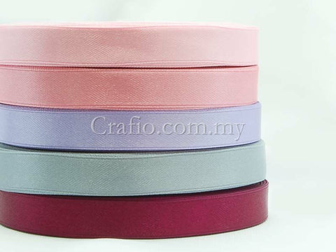 12 mm Double Sided Satin Ribbons