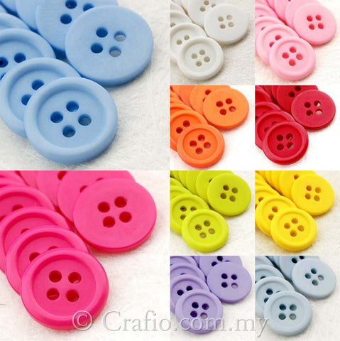 15 mm 4-eye Doll Buttons