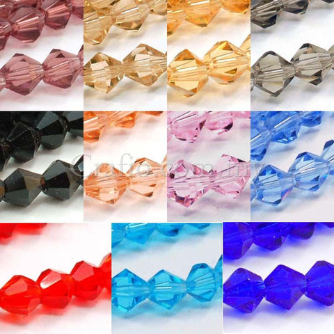 Bicone Glass Beads 4mm