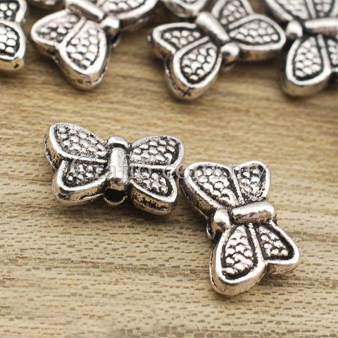 Butterfly Tibetan Silver Spacer Beads (T186)