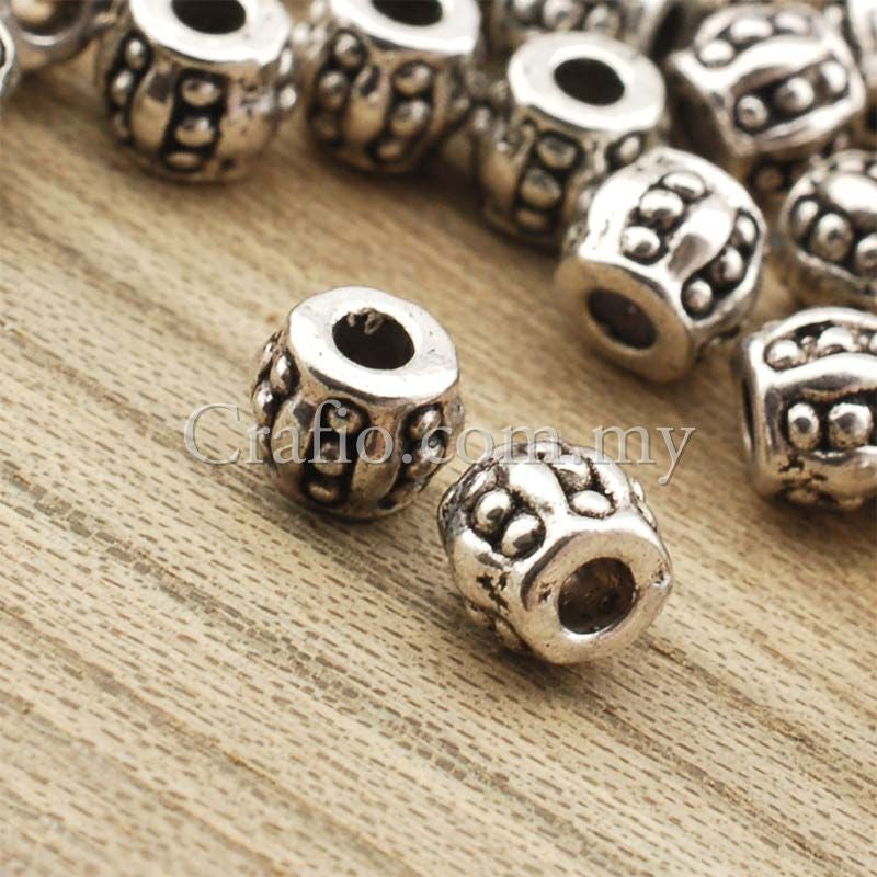 Tibetan Silver Spacer Beads (T878)