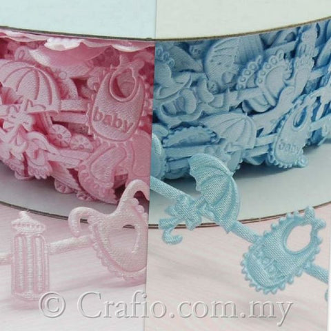 Applique Ribbon Baby Shower Trim