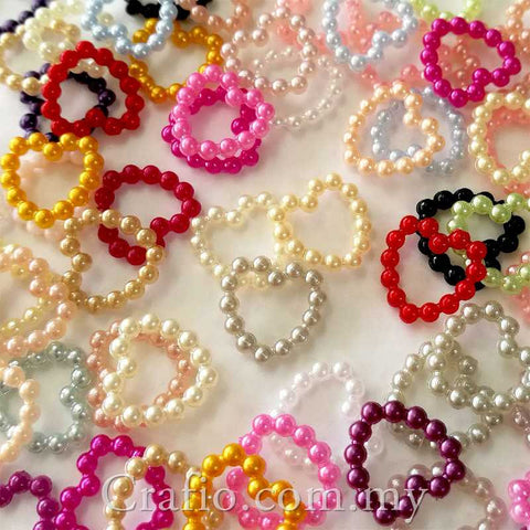 10 mm Beaded Pearl Hearts