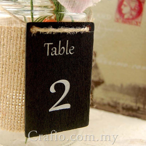 Wooden Blackboard Tag with Jute Twine
