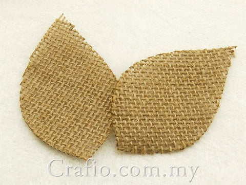 Burlap Leaves - 50 or 100 pieces