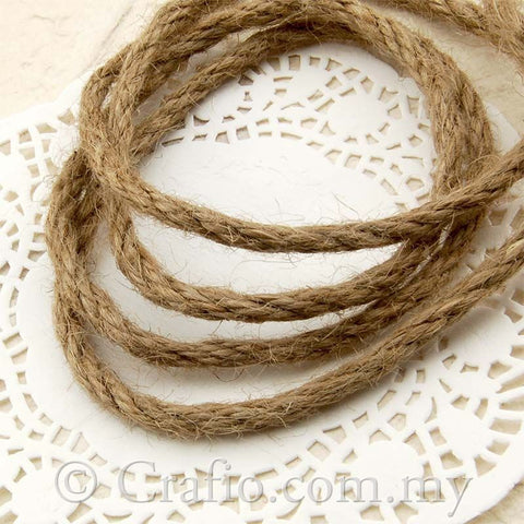 4 mm Natural Jute Burlap Cord Rope
