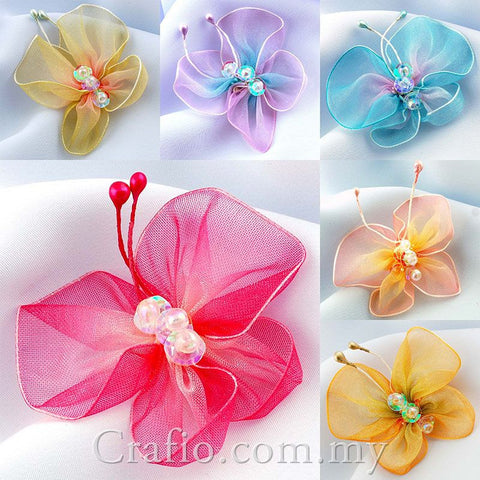 Fabric Embellishment - Organza Butterflies