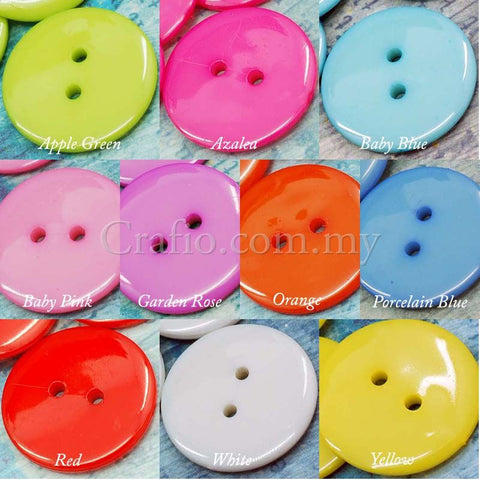 25 mm 2-eye Doll Buttons