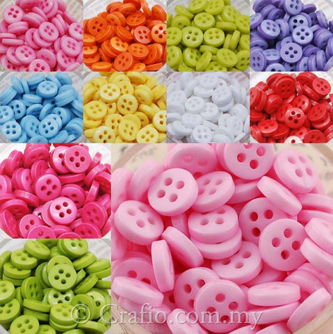 7 mm 4-eye Doll Buttons