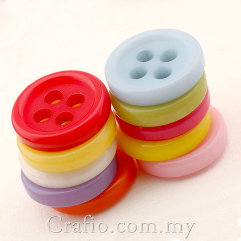 9 mm 4-eye Doll Buttons