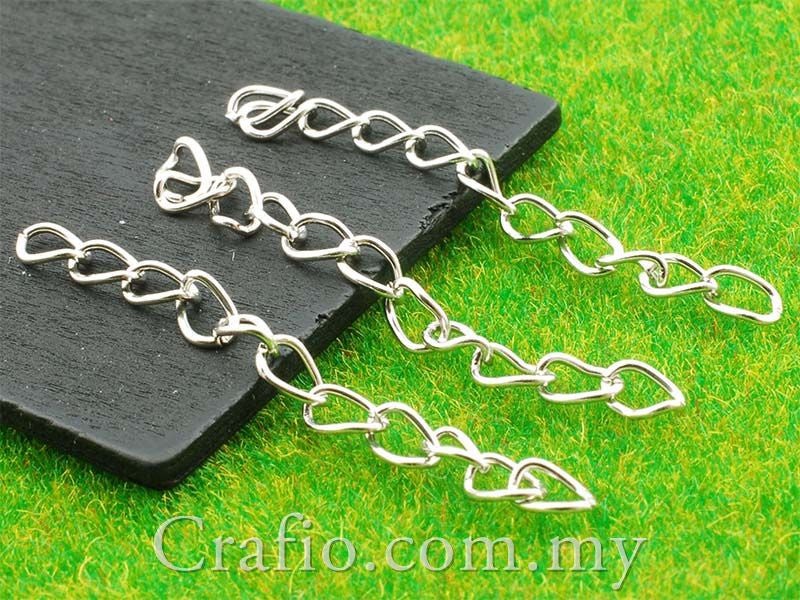 White Gold Plated Chain Extension