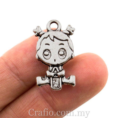 Tibetan Silver Baby with Milk Bottle Charm Pendant