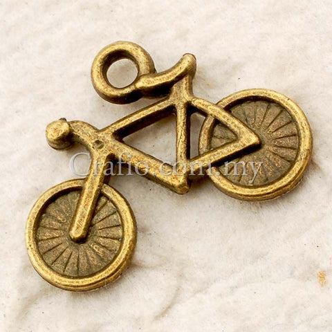 Tibetan Antique Bronze Bicycle Charm Pendant