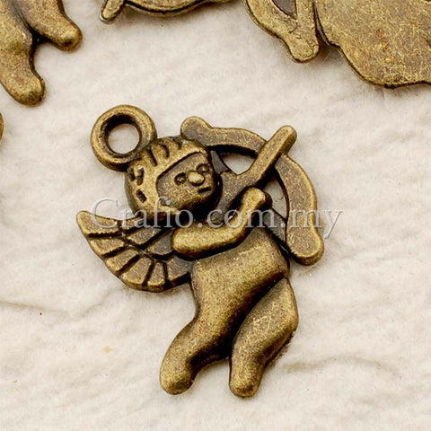 Tibetan Antique Bronze Cupid Charm Pendant