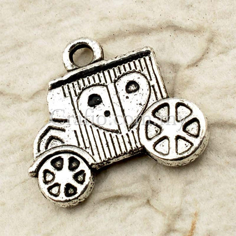 Tibetan Silver Carriage Charm Pendant