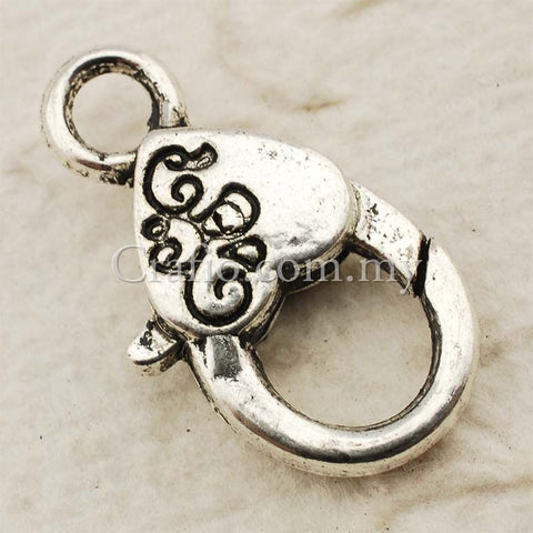 Tibetan Silver Lobster Clasp Charm Pendant