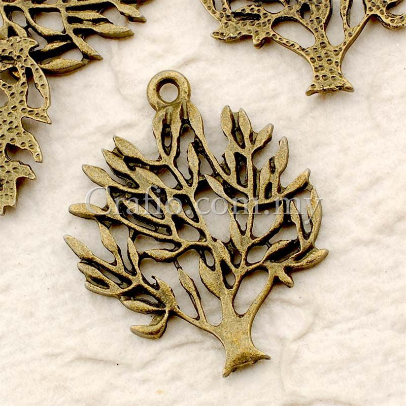 Tibetan Antique Bronze Tree Charm Pendant