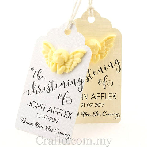 Personalized Angel Royale Christening Gift Tag