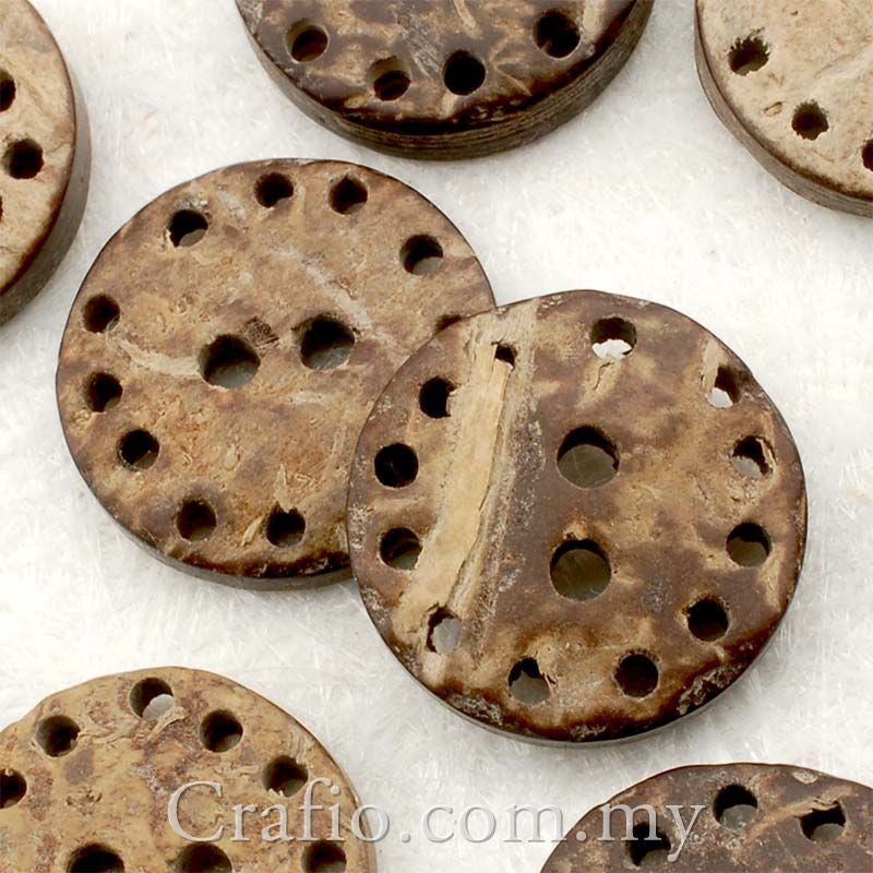 Coconut Shell Buttons - Round