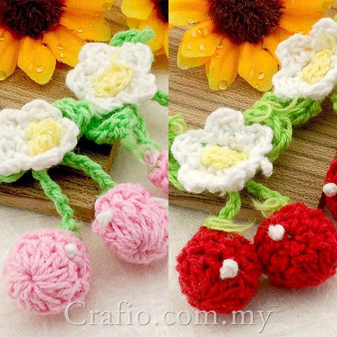 Cherry Crochet Embellishments
