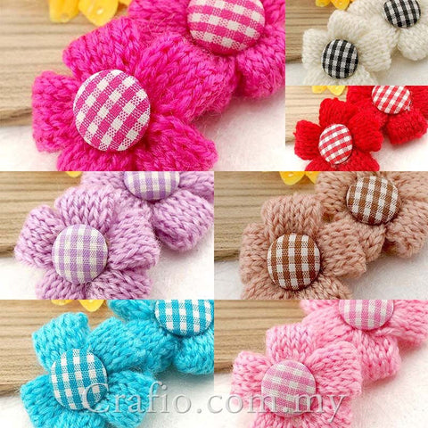 Five Petal Flower Crochet Embellishments