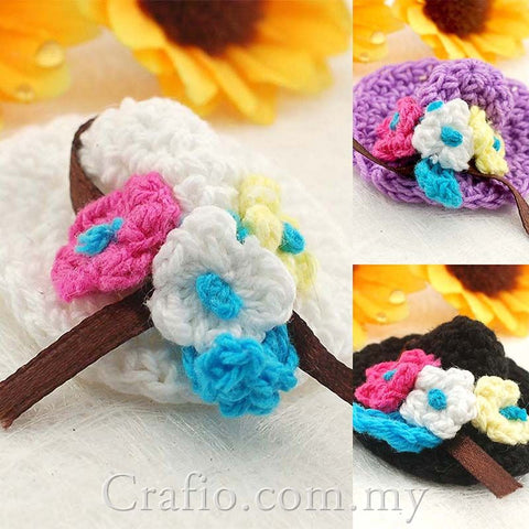 Mini Hat Crochet Embellishments